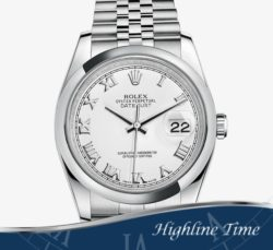 Rolex-Datejust-36mm-116200-List-$6700-Sale-$5800-White-Roman