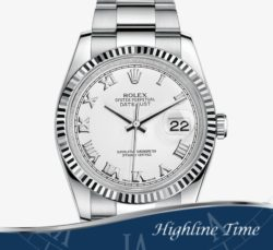 Rolex-Datejust-36mm-116234-List-$7850-Sale-$6800-White Roman