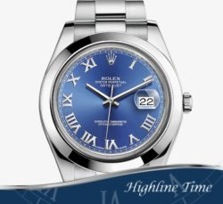 Rolex Datejust II 41mm 116300s-List-$7150-Sale-$6500-Blue-Roman-