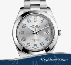 Rolex Datejust II 41mm 116300s-List-$7150-Sale-$6500-Silver-Arabic