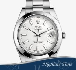 Rolex Datejust II 41mm 116300s-List-$7150-Sale-$6500 -White-Index-