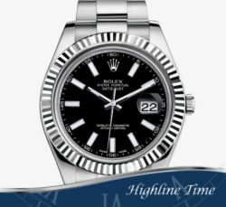 Rolex-Datejust-II-41mm---Blk-Index--116334-List-$9100-Sale-$7800