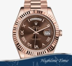 Rolex Day Date II Rose 41mm 218235 List $37550 Sale $28000