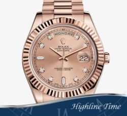 Rolex Day Date II Rose 41mm 218235 List $40550 Sale $30500