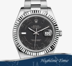 Rolex-Datejust-II-41mm---Blk-Index--116334-List-$9100-Sale-$7800-ROMAN