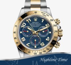Rolex-Daytona-Steel-Gold-40mm-116523-List-$16900-Sale-$13790-Blue